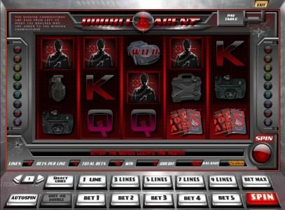 Cbet featuring the Video Slots Double Agent with a maximum payout of $45,000