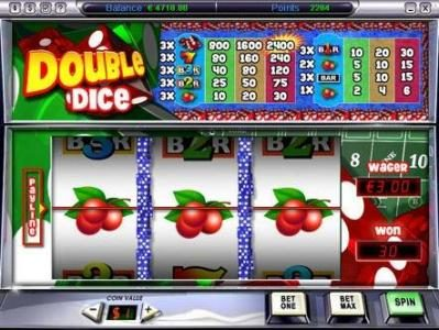 Play slots at Video Poker Classic: Video Poker Classic featuring the Video Slots Double DIce with a maximum payout of $7,200