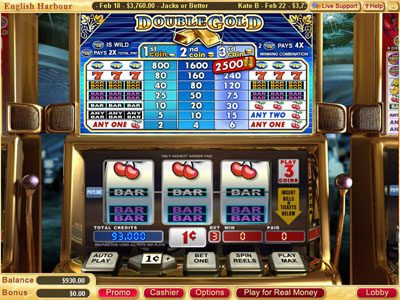 Miami Club featuring the Video Slots Double Gold with a maximum payout of $75,000