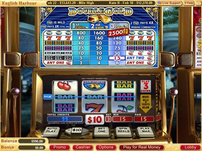 Red Stag featuring the Video Slots Double Gold with a maximum payout of $75,000