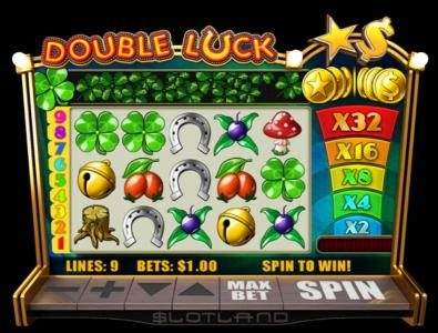 Slotland featuring the Video Slots Double Luck with a maximum payout of $500