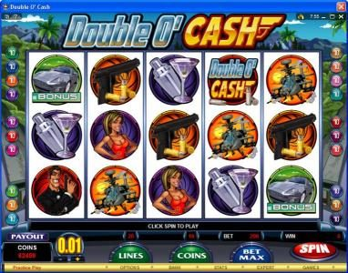 Vegas Seven featuring the video-Slots Double O' Cash with a maximum payout of $500,000