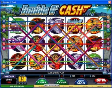 Vegas Slot featuring the video-Slots Double O' Cash with a maximum payout of $500,000