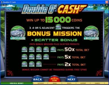 Slots Magic featuring the video-Slots Double O' Cash with a maximum payout of $500,000