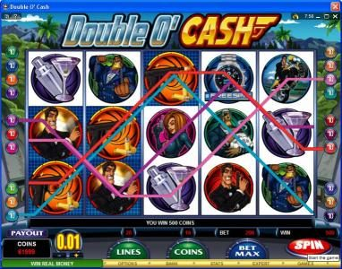 Play slots at Crystal: Crystal featuring the video-Slots Double O' Cash with a maximum payout of $500,000