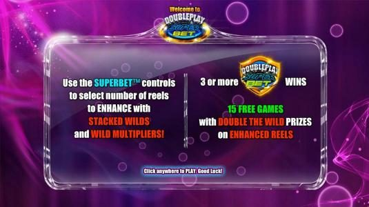 Winzino featuring the Video Slots Double Play SuperBet with a maximum payout of $225,000