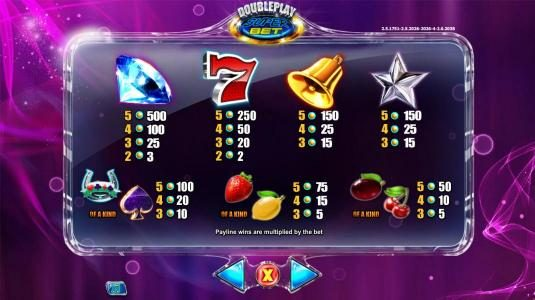 Orientxpress featuring the Video Slots Double Play SuperBet with a maximum payout of $225,000