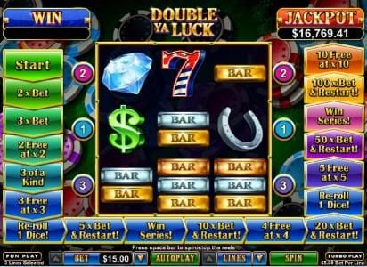 Play slots at Cafe: Cafe featuring the Video Slots Double Ya Luck with a maximum payout of $250,000