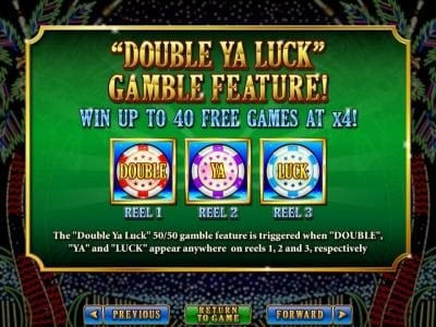 Siver Oak featuring the Video Slots Double Ya Luck with a maximum payout of $250,000