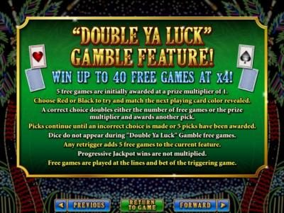 Royal Ace featuring the Video Slots Double Ya Luck with a maximum payout of $250,000