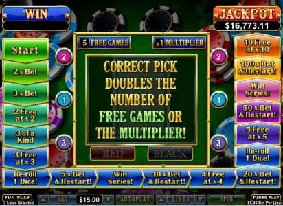 Ruby Slots featuring the Video Slots Double Ya Luck with a maximum payout of $250,000