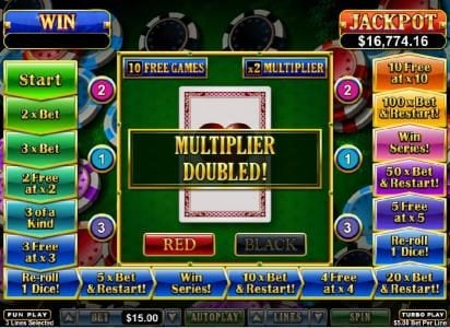 Red Dog featuring the Video Slots Double Ya Luck with a maximum payout of $250,000