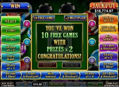 Intertops featuring the Video Slots Double Ya Luck with a maximum payout of $250,000