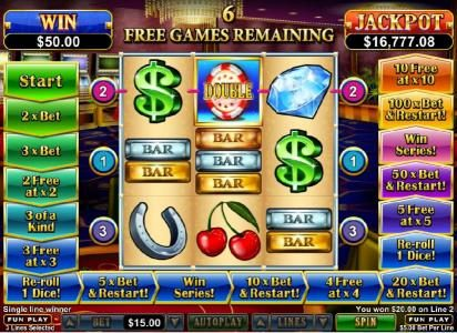 Cool Cat featuring the Video Slots Double Ya Luck with a maximum payout of $250,000