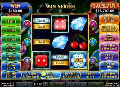 Wild Vegas featuring the Video Slots Double Ya Luck with a maximum payout of $250,000