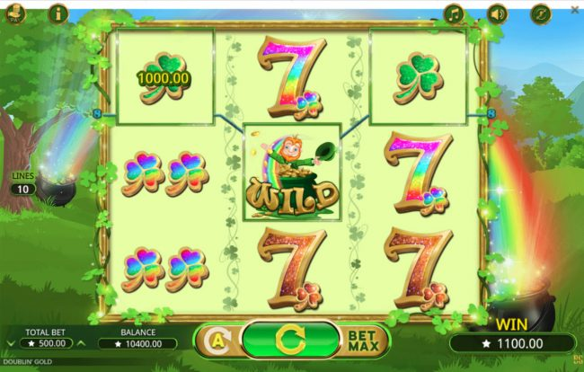 Africa Casino featuring the Video Slots Doublin' Gold with a maximum payout of $25,000