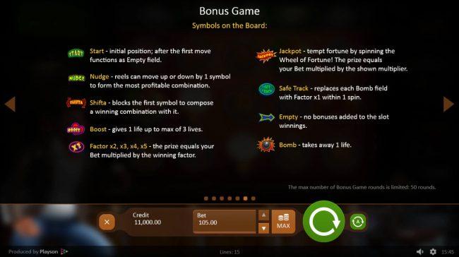 Down the Pub :: Bonus Game Rules