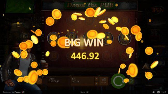 Down the Pub :: Big Win