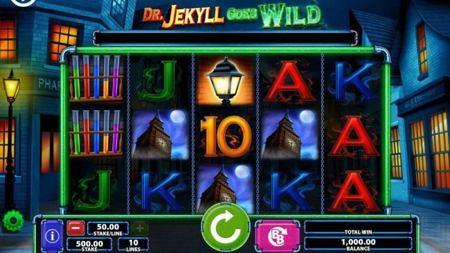 Grand Ivy featuring the Video Slots Dr. Jekyll Goes Wild with a maximum payout of $250,000