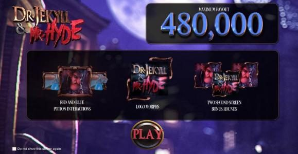 123 Vegas Win featuring the Video Slots Dr. Jekyll & Mr. Hyde with a maximum payout of $3,000