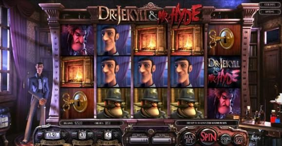 Intercasino featuring the Video Slots Dr. Jekyll & Mr. Hyde with a maximum payout of $3,000