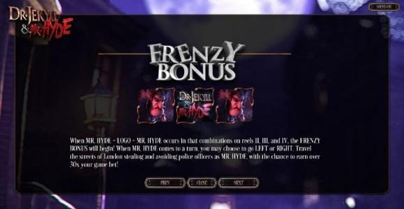Frenzy Bonus Feature Rules