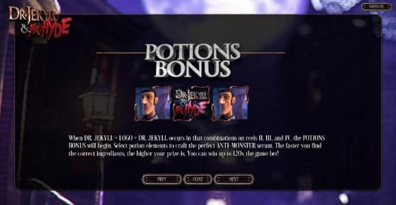 BetOnline featuring the Video Slots Dr. Jekyll & Mr. Hyde with a maximum payout of $3,000