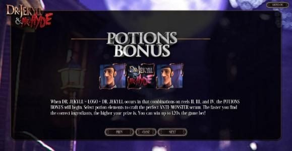 Potions  Bonus Feature Rules