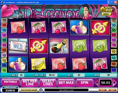 Play slots at Casino.DK: Casino.DK featuring the Video Slots Dr. Lovemore with a maximum payout of $500,000