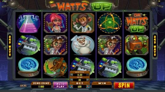 GeoBet featuring the Video Slots Dr Watts Up with a maximum payout of $200,000