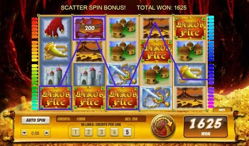 Lightbet featuring the Video Slots Draco's Fire with a maximum payout of $6,250