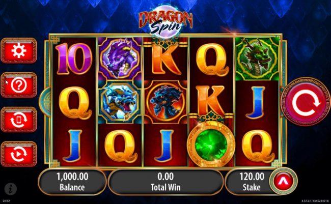 Slots Magic featuring the Video Slots Dragon Spin with a maximum payout of $18,000