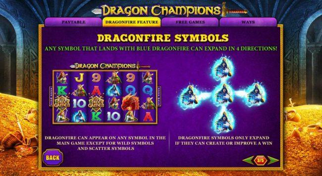 Dragonfire Symbols