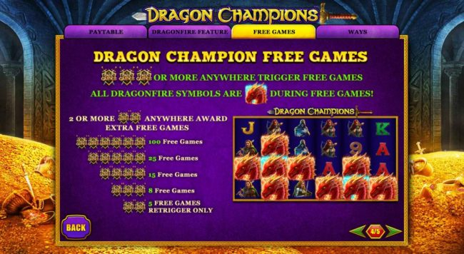 Dragon Champions :: Free Games Bonus Rules
