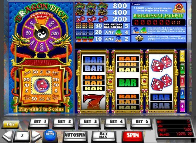Dragon dice slot machine golden games casino mechelen