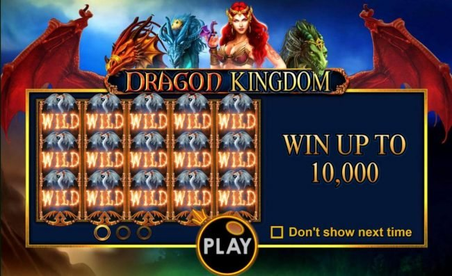 Play slots at Surf Casino: Surf Casino featuring the Video Slots Dragon Kingdom with a maximum payout of $50,000
