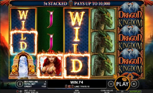 Money Reels featuring the Video Slots Dragon Kingdom with a maximum payout of $50,000