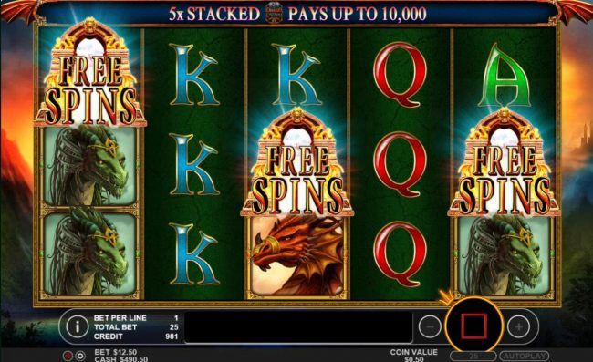 Wild Jackpots featuring the Video Slots Dragon Kingdom with a maximum payout of $50,000