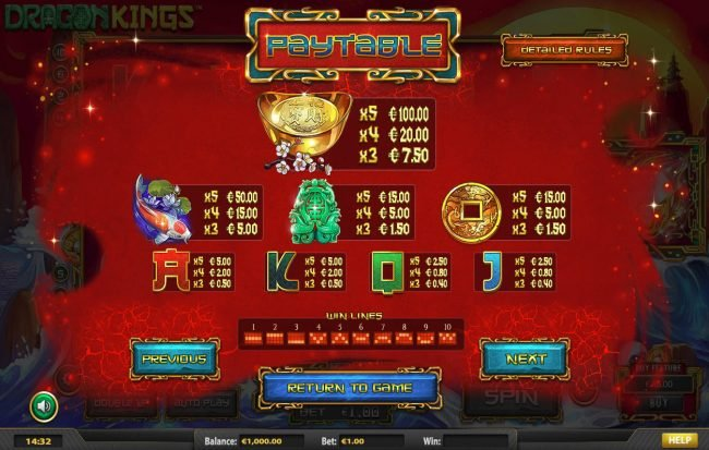 Vegas Crest featuring the Video Slots Dragon Kings NJP with a maximum payout of $280,785