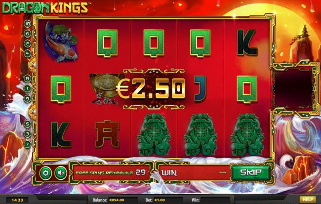 Magik Slots featuring the Video Slots Dragon Kings NJP with a maximum payout of $280,785