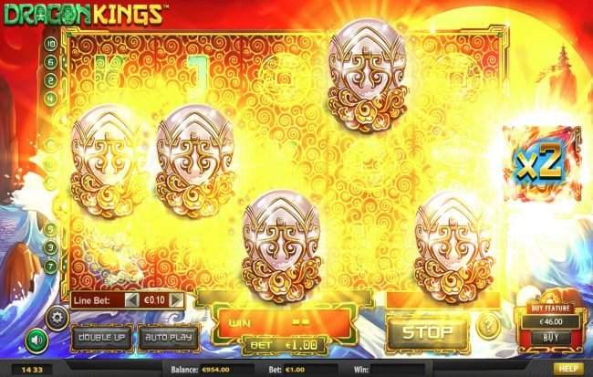 Dragon Kings NJP :: Scatter win triggers the free spins feature