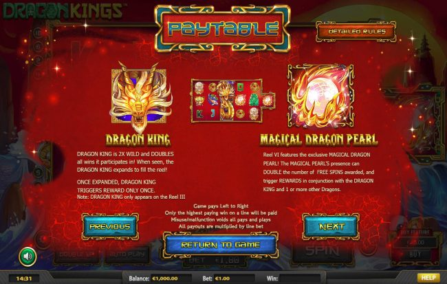 Winward featuring the Video Slots Dragon Kings NJP with a maximum payout of $280,785