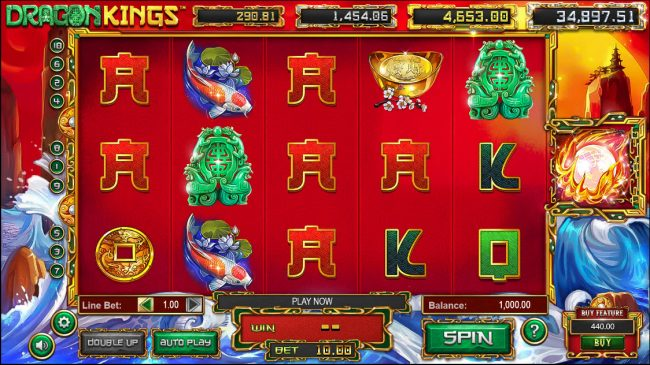 Real Bet featuring the Video Slots Dragon Kings with a maximum payout of Jackpot