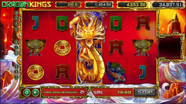 Cyber Spins featuring the Video Slots Dragon Kings with a maximum payout of Jackpot