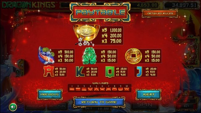 Come On featuring the Video Slots Dragon Kings with a maximum payout of Jackpot