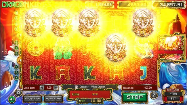 Next Casino featuring the Video Slots Dragon Kings with a maximum payout of Jackpot