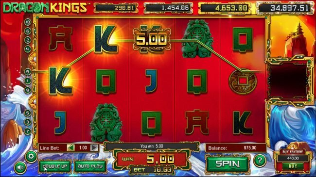 Euro Fortune featuring the Video Slots Dragon Kings with a maximum payout of Jackpot