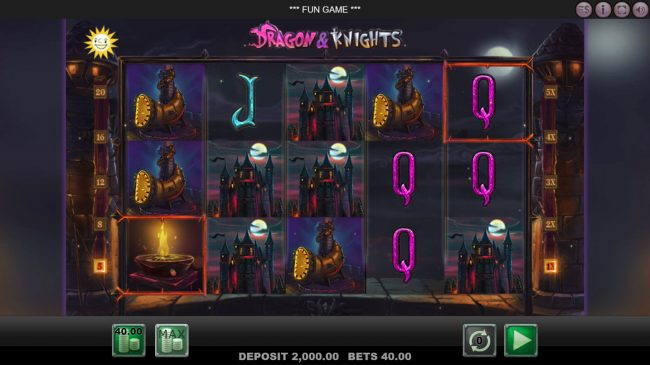 Mr Green featuring the Video Slots Dragon & Knights with a maximum payout of $40,000
