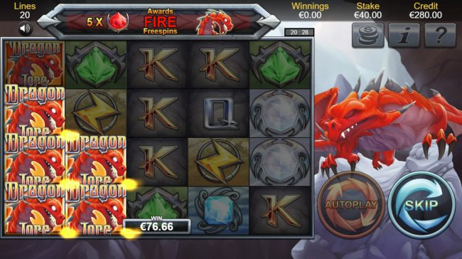 Thrills featuring the Video Slots Dragon Lore with a maximum payout of $100,000
