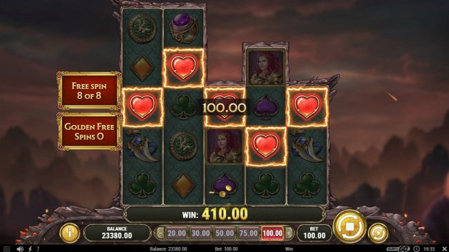 Wild Jackpots featuring the Video Slots Dragon Maiden with a maximum payout of $500,000